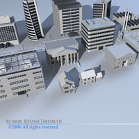city buildings 1 skyscraper 3d model