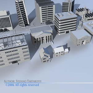 city buildings 1 skyscraper 3d model