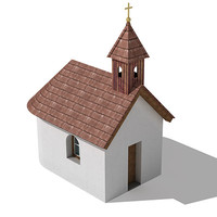 tiny chapel 3d c4d