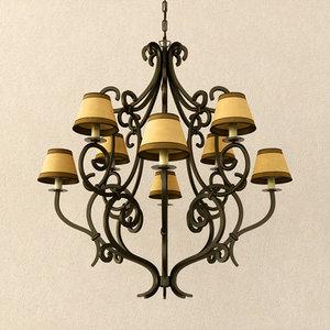 3dsmax lamp elliot chandelier
