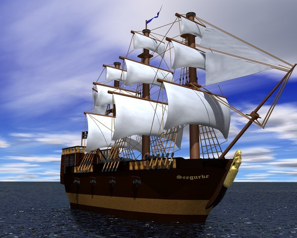 3d model old ship