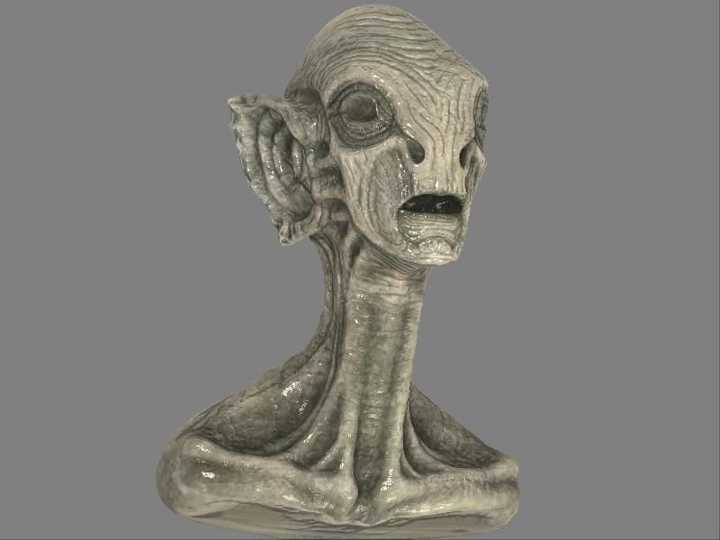 alien bust obj