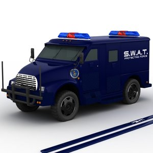 swat armored truck s 3d max