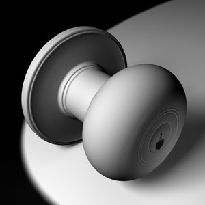 doorknob door knob 3d model