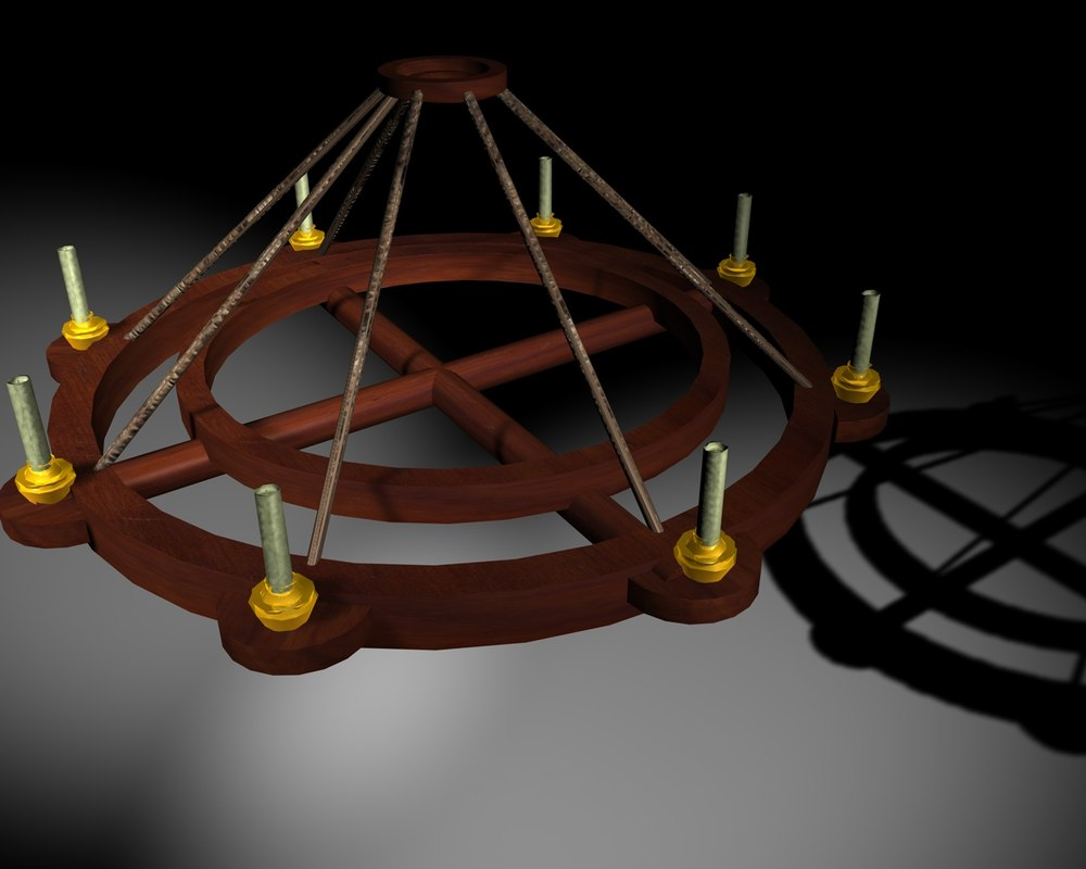 old candle-luster 3d model
