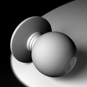doorknob door knob 3d max