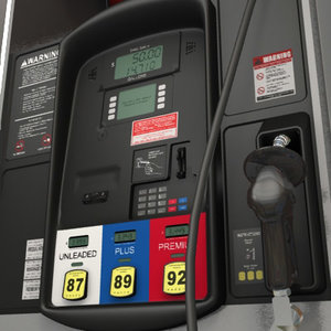 gas pump station 3d model