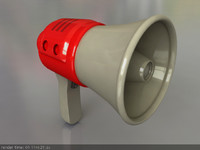 3d model megaphone loadspeaker