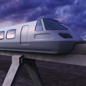 modern trailway train 3ds