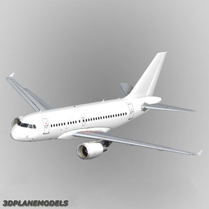 3d model of airbus a318 generic white