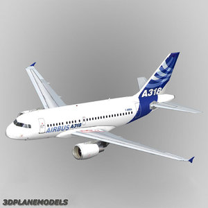 3d model airbus a318 house livery