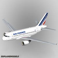 3d airbus a318 air france