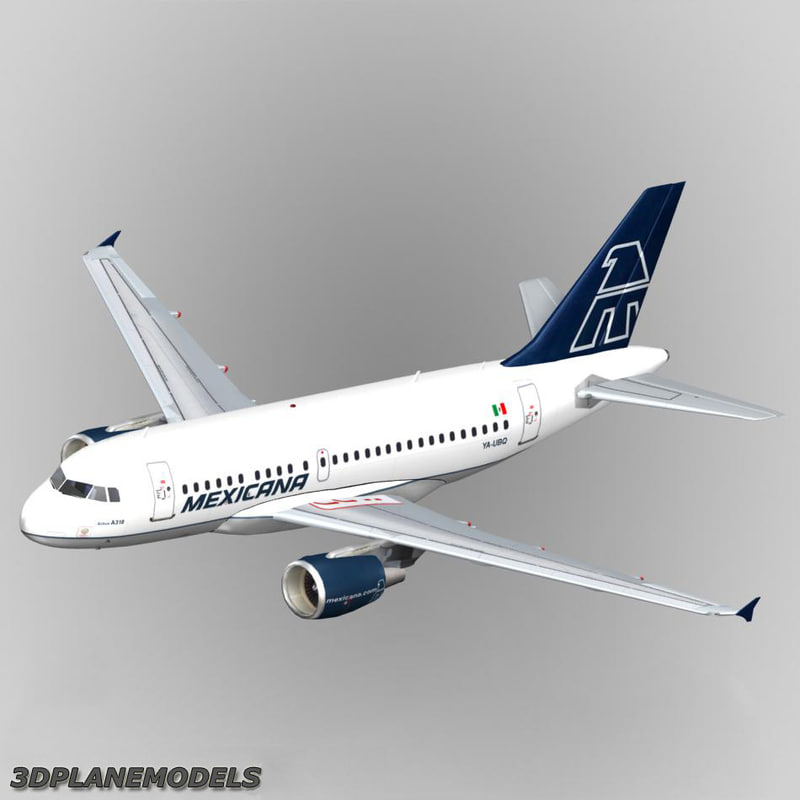 airbus a318 mexicana a-318 3ds