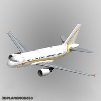 3d model airbus a318 private a-318