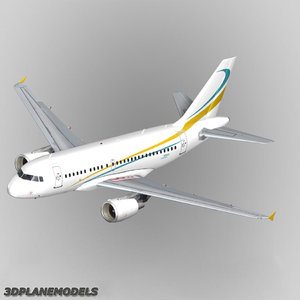 airbus a318 private a-318 3d model