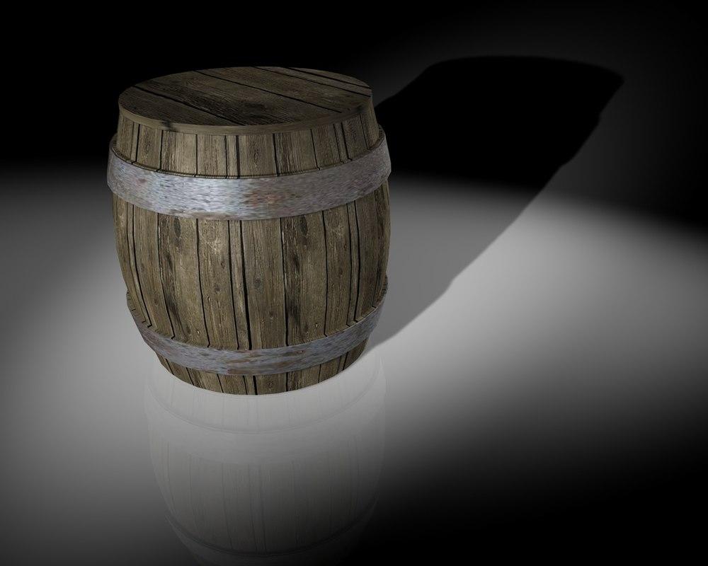 old barrel c4d