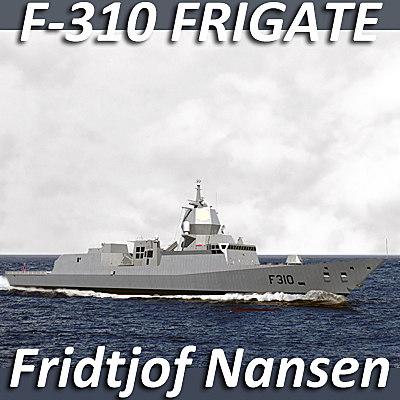 3ds max nansen class frigates royal