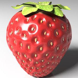 strawberry leaf 3d model
