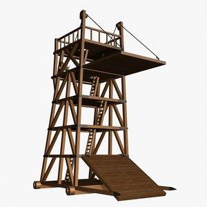 3d belfry castle siege