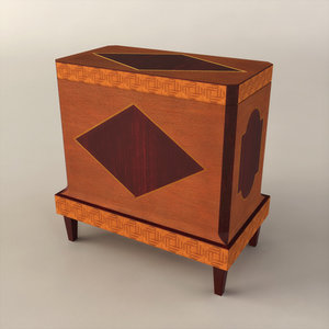 3d table painted box model