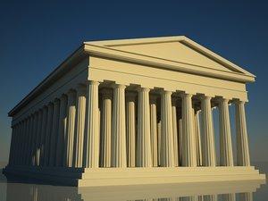 3d model acropolis temple