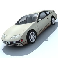 3d 300zx sports car model