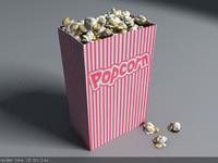 popcorn corn pop 3d model