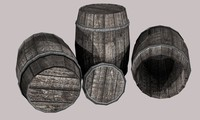 Wooden barrel 700 tris