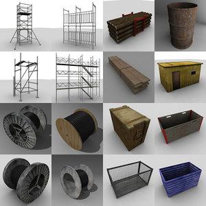 construct set 3d 3ds