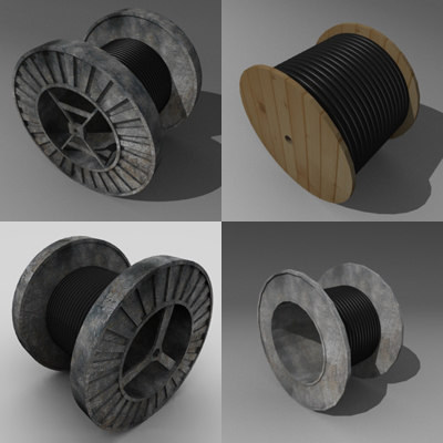spool wire 3d 3ds