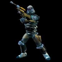 combat action figure 3d model