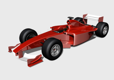 realistic formula 3d model