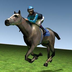3d fast race horses