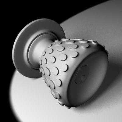 3ds knob grip knob
