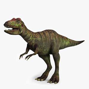allosaurus dinosaur 3d model