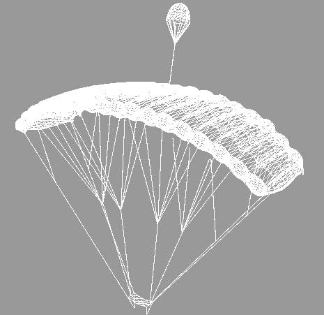 Parachute Pack 3D models