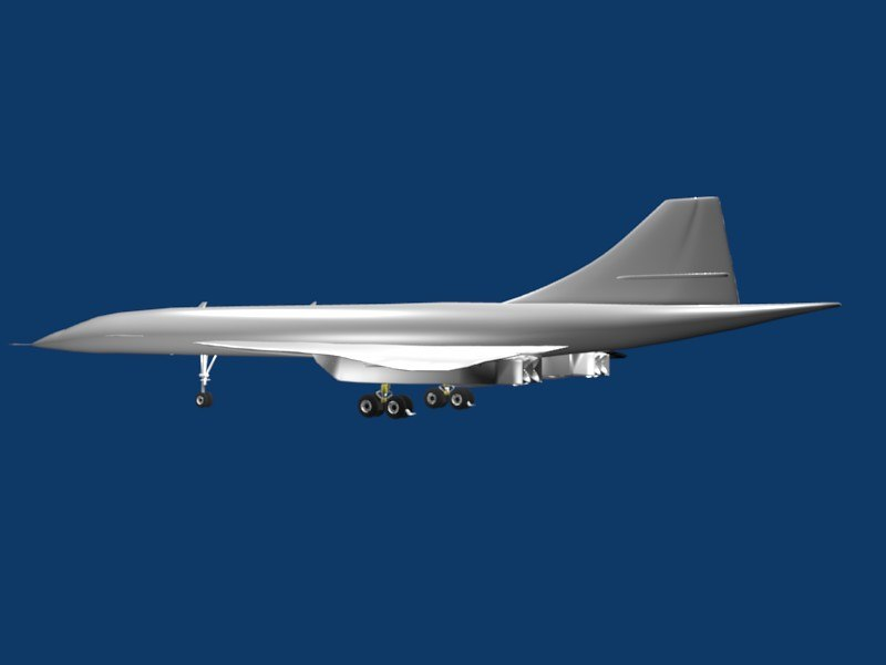 airplane concord jet 3d model