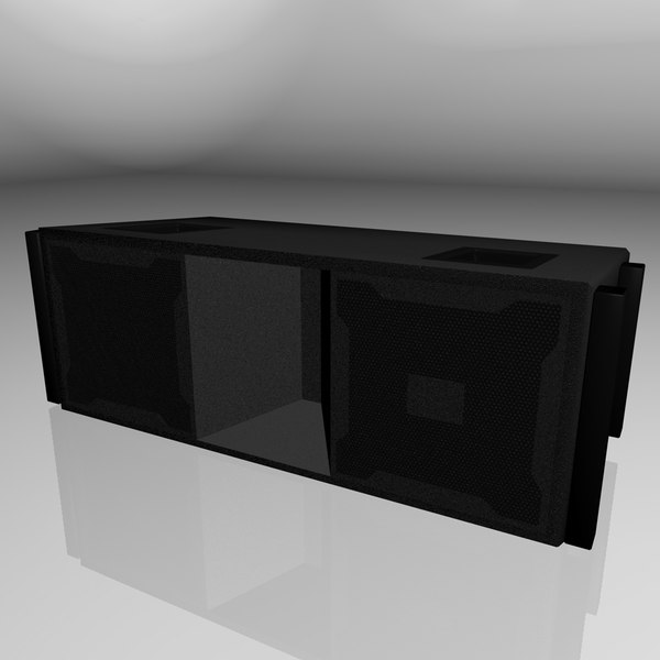 jbl vertec loudspeaker 3d model