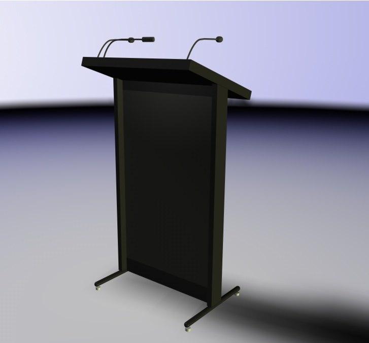 lectrumette lectern 3d model