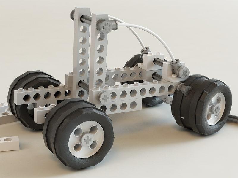 3ds max lego car