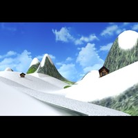 3d model of mountain landscape