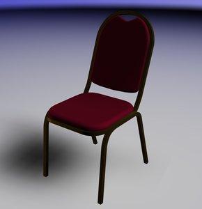 3d banquet chair