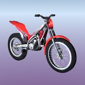 trial bike 3d model