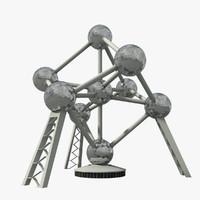 3d atomium building landmark model