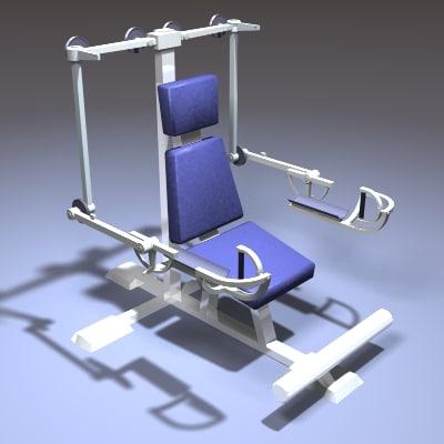 fitness machine 3d max