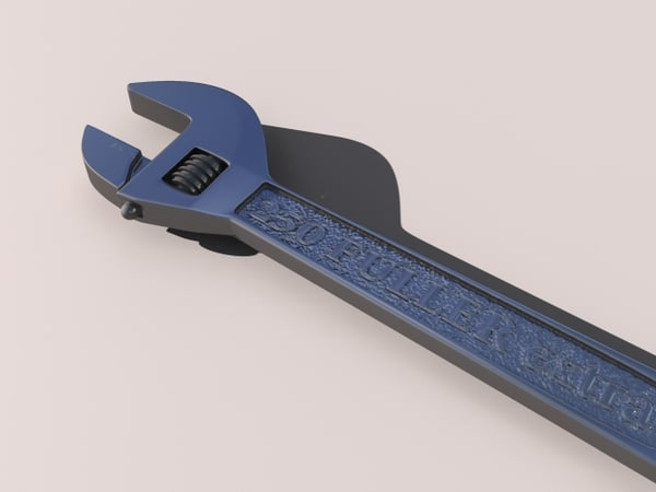 adjustable wrench 3d max