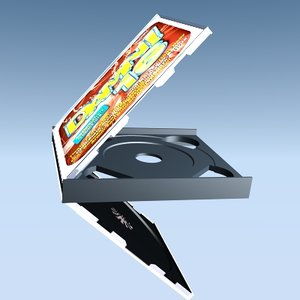 3d double cd box model