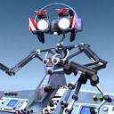 robot dj 3d max