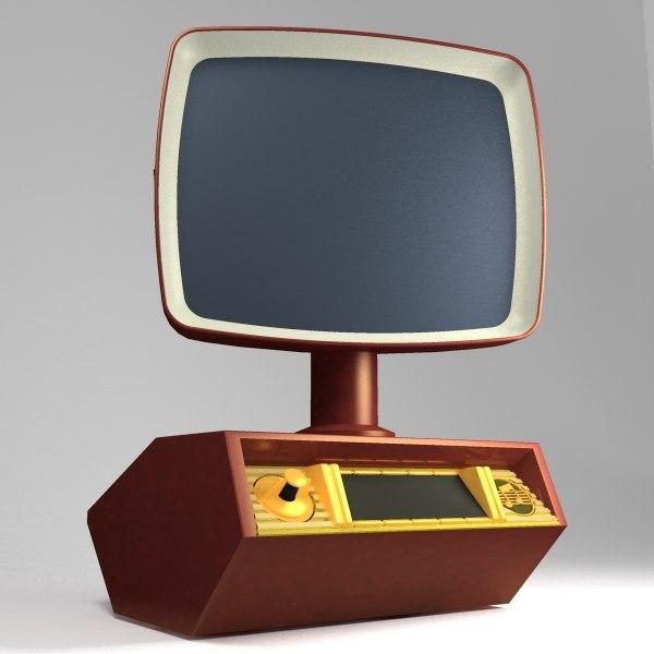 3ds max vintage tv