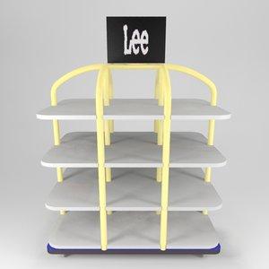 3d retail store clothes gondola model